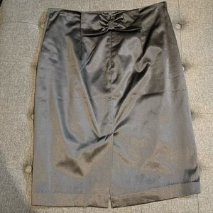 Forever 21 satin bow back pin up pencil skirt